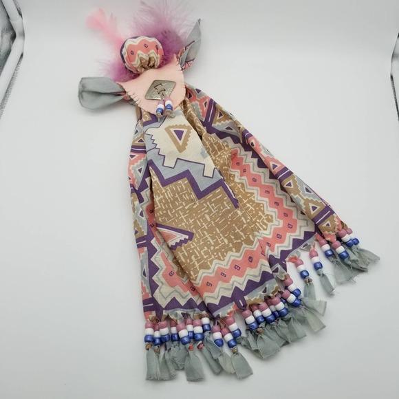 Handmade Bandana Doll Handkerchief Native American